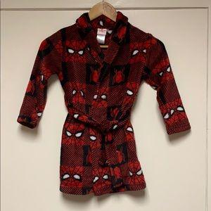 Kids Spiderman Robe Size 4